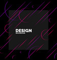 trendy abstract art geometric background with flat vector image