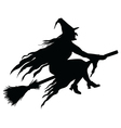 Wicked Witch Silhouette vector image vector image