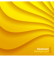 Yellow Wavy background vector image vector image