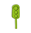 color traffic light object to urban caution vector image