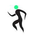 abstract fitness icon vector image