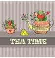 Background with teapot vector image