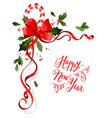 christmas holiday floral decoration vector image