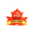 -15 special offer order today vector image