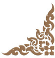 3d thai pattern carve vector image vector image