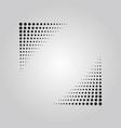 abstract black halftone effect corner banner vector image vector image