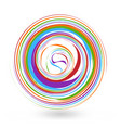 abstract colorful swirly circle icon vector image