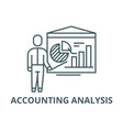 accounting analysis line icon accounting vector image vector image
