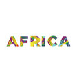 africa concept retro colorful word art