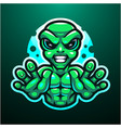 alien esport mascot logo design vector image vector image
