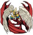angel versus devil vector image vector image