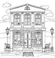 Black and white of a house vector image vector image