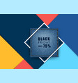 blue jeans banner with square frame and colorful vector image