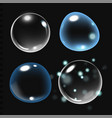 bubbles under water on black vector image vector image