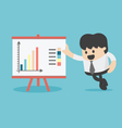 Businessman pointing at graph vector image