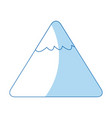 cartoon mountain snow nature image vector image vector image