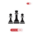 chess icon vector image vector image