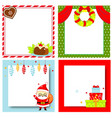 decorated christmas frames new year blank vector image vector image