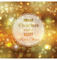 decorative christmas background 1909 vector image vector image