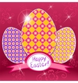 easter retro background vector image
