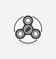 fidget spinner minimal icon vector image vector image
