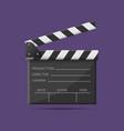 film clapper board vector image vector image