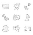 filming icons set outline style vector image vector image