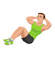 fitness exercising vector image vector image