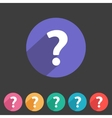 Flat game graphics icon question vector image vector image