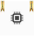 Flat Icon of cpu vector image