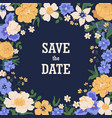floral background with gorgeous blooming flowers vector image vector image