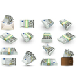 full set of five euros banknotes vector image vector image