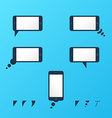 Gadget smartphone empty speech bubbles vector image