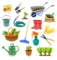 Gardening Decorative Color Icons vector image