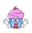 geek cupcake character cartoon style vector image vector image