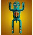 Graphic anthropomorphic character isolated vector image vector image
