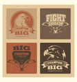 grunge cards set with eagle logos and emblem vector image