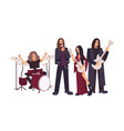 heavy metal or gothic rock band performing vector image vector image
