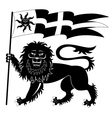 heraldic lion with banner vector image vector image