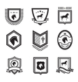 horse badges vector image vector image