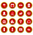 household appliances icon red circle set vector image