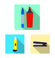 isolated object of office and supply logo vector image