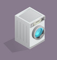 isolated washing machine icon vector image vector image