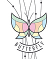 logo butterfly perched on branches vector image vector image