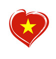 love vietnam emblem colored vector image