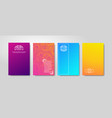 minimal gradient cover design abstract color vector image