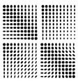 monochrome halftone background set vector image vector image