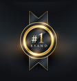 no 1 brand premium golden label badge design vector image vector image