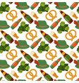 oktoberfest seamless pattern alcohol party vector image vector image
