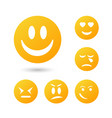 ollection creative cartoon style smiles with vector image vector image